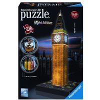 Puzzle, Puzzle 3D Big Ben nocą + zakładka do książki GRATIS