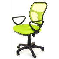 Fotele i krzesła biurowe, Fotel obrotowy wentylowany - model 8906 - zielony