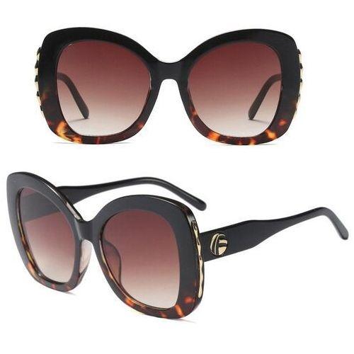 Okulary przeciwsłoneczne, Okulary przeciwsłoneczne damskie panterkowe duże