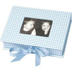 Pudełko na zdjęcia Vichy niebieskie