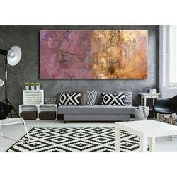 Duże obrazy nowoczesne - ręcznie malowane - subtelny fiolecik metalicznym wykończeniem rabat 15%