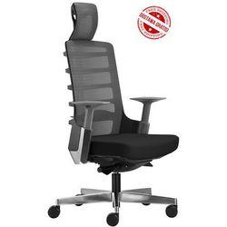 Fotel biurowy Unique SPINELLY 999B - Czarny, wysuw siedziska + 21 kolorów siedziska