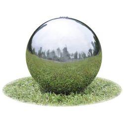 vidaXL Fontanna ogrodowa kula ze stali nierdzewnej światłem LED 20 cm Darmowa wysyłka i zwroty