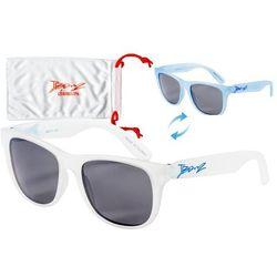 Okulary przeciwsłoneczne dzieci 4-10la Junior BANZ - White to Blue