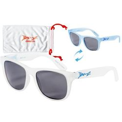 Okulary przeciwsłoneczne dzieci 4-10lat kameleon BANZ - White to Blue