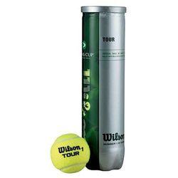 Piłki tenis ziemny Wilson Tour Davis Cup 4 sztuki 115400