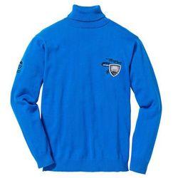 Sweter z golfem Regular Fit bonprix lazurowy