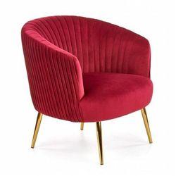 Fotel muszelka glamour Royal - bordowy