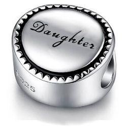 Rodowany srebrny charms do pandora córka córeczka daughter srebro 925 SY039