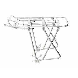 "Aluminiowy bagażnik rowerowy regulowany 24""-26""-28"" srebrny"
