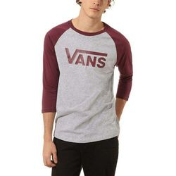 koszulka VANS - Vans Classic Raglan Athletic Heather/Prune (TN0) rozmiar: S