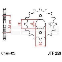 Zębatka przednia JT F259-14, 14Z, rozmiar 428 2200102 SYM Husky 125, Honda CB 125