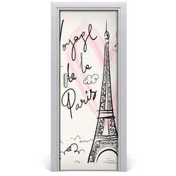 Naklejka fototapeta na drzwi Wieża Eiffla Paryż