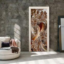 Fototapeta na drzwi - Tapeta na drzwi - Abstrakcja i kwiaty