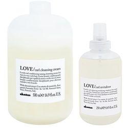 Davines Love Curl | Zestaw do włosów kręconych: oczyszczający krem 500ml + mgiełka odświeżająca 250ml