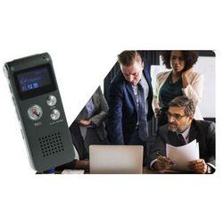 Mały-Rejestrator Dźwięku/Dyktafon Cyfrowy (8GB/570h.) + Nagrywarka Tel. + Współpraca z PC + Menu PL.