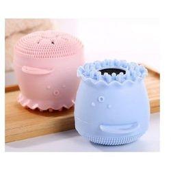 Silikonowa myjka do twarzy - ośmiorniczka niebieska