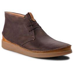 Trzewiki CLARKS - Oakland Rise 261353977 Dark Brown Leather