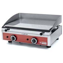 Płyta grillowa gazowa gładka nastawna   555x400mm   2x 2900W