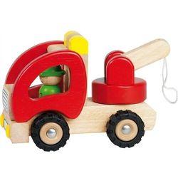 Samochód drewniany z podnośnikiem