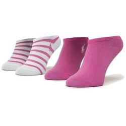 Zestaw 2 par niskich skarpet dziecięcych POLO RALPH LAUREN - 448803241001 Pink