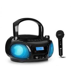 Roadie Sing Boombox CD radio UKF show świetlne odtwarzacz CD mikrofon czarny