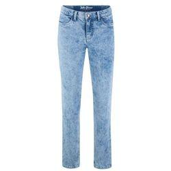 Spodnie dresowe z zamkami po bokach bonprix jasnoszary melanż