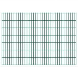 vidaXL Panele ogrodzeniowe 2D z słupkami 2008x1430 mm 38 m Zielone Darmowa wysyłka i zwroty