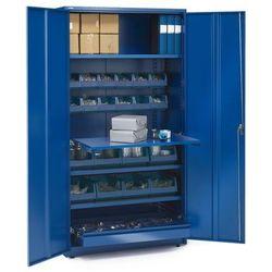 Szafa warsztatowa SUPPLY, z wyposażeniem, 1900x1020x500 mm, niebieski