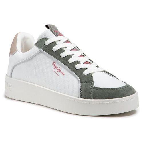 Damskie obuwie sportowe, Sneakersy PEPE JEANS - Brixton Sun PLS31138 White 800