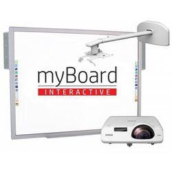 """ZESTAW! Tablica myBoard 84"""" C + projektor krótkoogniskowy Epson EB-530+ uchwyt ścienny do projektora + okablowanie 10m + głośniki"""