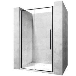Drzwi prysznicowe z czarnymi profilami 120 cm Rea Solar Black