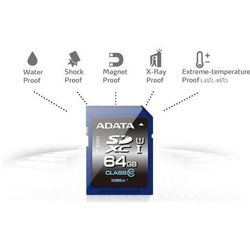 Karta pamięci ADATA SDXC 64GB Class 10 (ASDX64GUICL10-R) Darmowy odbiór w 21 miastach!