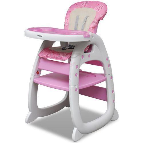 Krzesełka do karmienia, vidaXL Krzesełko do karmienia 3w1 Różowe