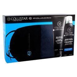 Collistar Linea Uomo zestaw 250 ml Żel pod prysznic 250 ml + Pianka do golenia 200 ml + Kosmetyczka Piquadro dla mężczyzn