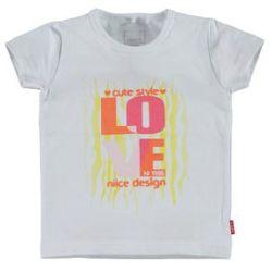 NAME IT Girls Mini Bluzka z krótkim rękawkiem VIX bright white/love print