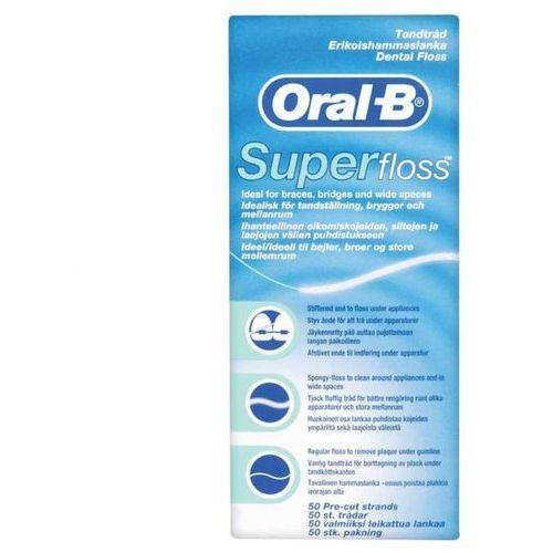 Nici dentystyczne, ORAL B nić dentystyczna SUPER FLOSS 50 odcinków