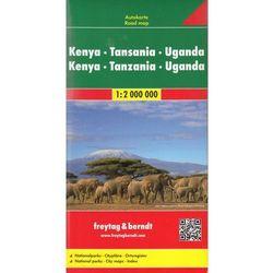 Kenia Tanzania Uganda mapa 1:2 000 000 Freytag & Berndt (opr. twarda)