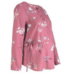 Bluzka ciążowa i do karmienia, w kwiaty bonprix kremowy jeżynowy w kwiaty