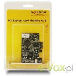 Kontroler Delock PCI EXPRESS-FIREWIRE 2x1394B + 1394A Darmowy odbiór w 21 miastach!