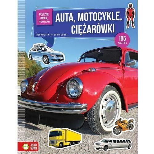 Żarówki do motocykla, Książka Uczę się, bawię, przyklejam. Auta, motocykle, ciężarówki