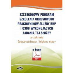 Szczegółowy program szkolenia okresowego pracowników służby bhp i osób wykonujących zadania tej służby w zakresie bezpieczeństwa i higieny pracy (e-book) - Praca zbiorowa (PDF)