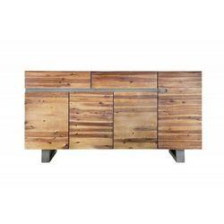 INVICTA komoda GENESIS 170 cm akacja - antracytowam, drewno naturalne, żelazo