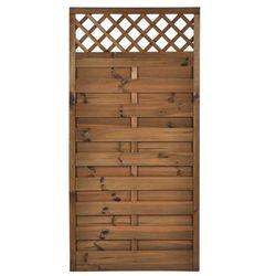 Płot szczelny z kratką 90x180 cm drewniany NIVE NATERIAL 2021-07-14T00:00/2021-08-03T23:59