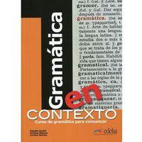 Książki do nauki języka, Gramatica en contexto książka (opr. miękka)