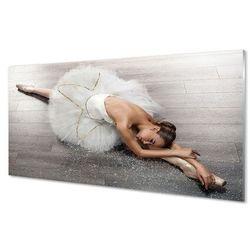 Szklany Panel Kobieta biała sukienka baletnica