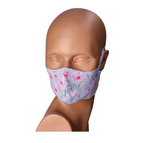 Maseczki ochronne, Maseczka na twarz wielorazowa niebiesko-różowa - niebieski ||różowy
