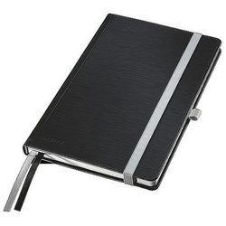 Notatnik w twardej oprawie Leitz Style A5 80 kartek kratka satynowa czerń 44860094