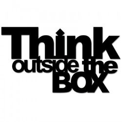 Napis na ścianę THINK OUTSIDE THE BOX czarny TOB1-1