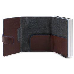 Piquadro B2S Etui na karty bankowe RFID skórzana 6,5 cm dark brown ZAPISZ SIĘ DO NASZEGO NEWSLETTERA, A OTRZYMASZ VOUCHER Z 15% ZNIŻKĄ